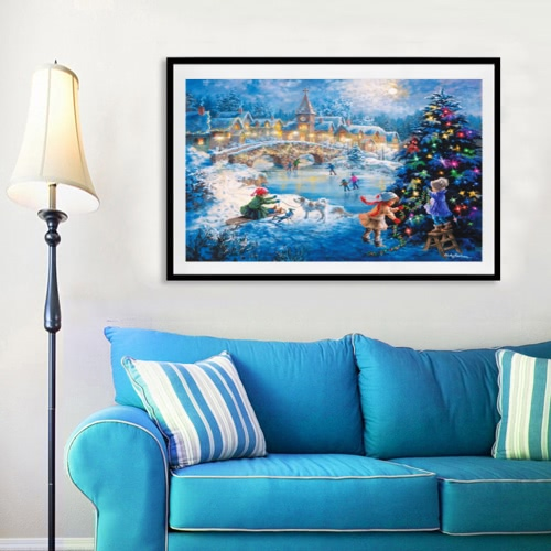 Christmas Night Diaond Painting Original And Unique House Decoration
