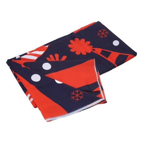 """80 * 60 """"長方形クリスマスディナーテーブルクロスポリエステルプリントコーヒーテーブルカバークリスマスDecoartions"""