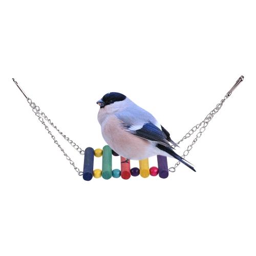 Красочный попугай Chew Bite Climb Toy Деревянные висячие игрушки Bird Cage Аксессуары для попугая Budgie Macaw Cockatoo