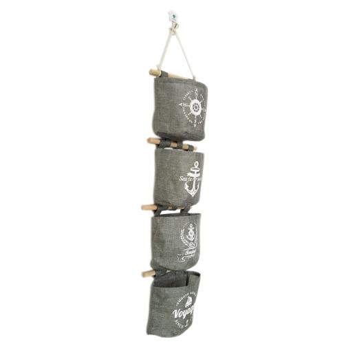 Хлопчатобумажная сумка для хранения льда Стенной дверной шкаф Подвесной сумка Zakka Over the Door Organizer Водонепроницаемые футляры Карманные многоцелевые сумки Muslin