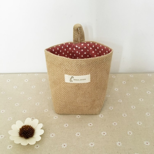 Реверсивная сумка для белья с вешалкой для мини-настольного хранения Карманная сумка для настольных компьютеров Органайзер настенной дверной декорации Чехол для мешочка Polka Dot Strips