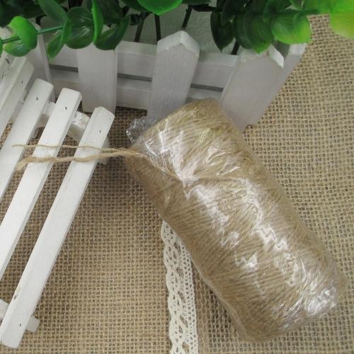 Льняная веревка джутовая шпагат, украшающая веревку для фото стены Свадебная упаковка Подарочная конопляная прядь Природа Бельевая нить