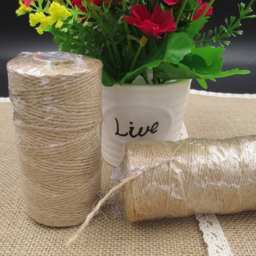 Linen Rope Jute Twine Decorating Rope for Photo Wall Wedding Packing Gift Hemp String Nature Linen Thread