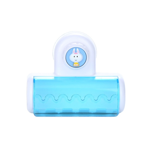 Plastic Dust-proof Water-resistant Adorable Toothbrush Holder Suction Bathroom Wall Toothbrush Rack Washroom Accessory Convenient 5 Compartments