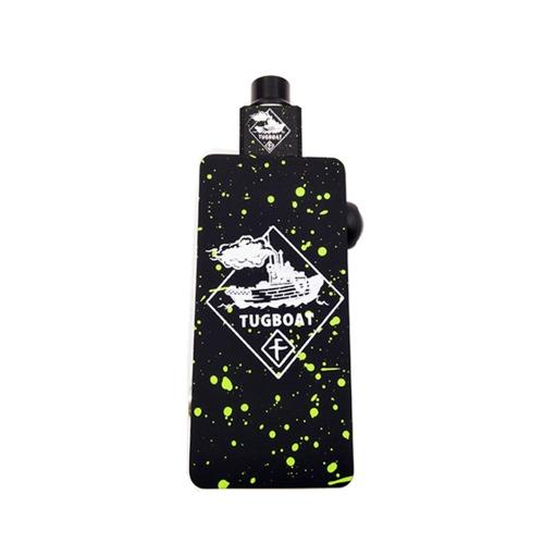 Electronic Cigarette Tug Boat Box Mod Kit with Colorful Tuglyfe Portable Unregulated Cubed RDA Mechanical Vape E-cigarette Red+Black