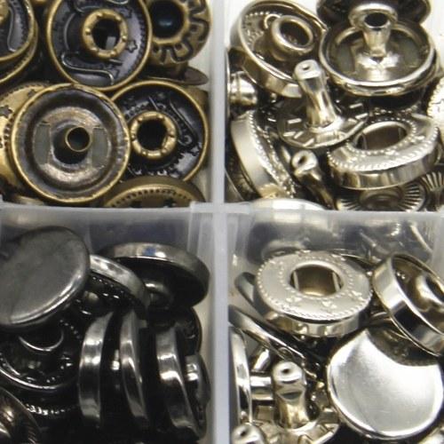 12.5mm Цветная круглая металлическая кнопка кольца с крепежным установочным инструментом для детей и кошелька для взрослых