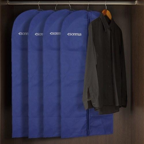 Esonmus 128 * 60cm Non-Woven Hanging Garment Kleidung Taschen Staubdicht Moisturproof Mantellosen Anzug mit PVC-Fenster für Closet Travel - Pack von 3