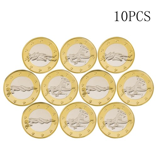 TOMTOP / 10pcs Novelty Sex Coin Germany Medals Gold Lover's Gift