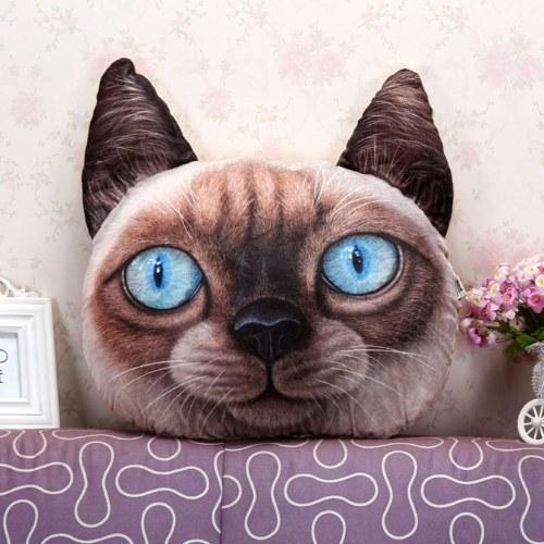 Cute Plush 3D Animals Head Shape Throw Pillowcase