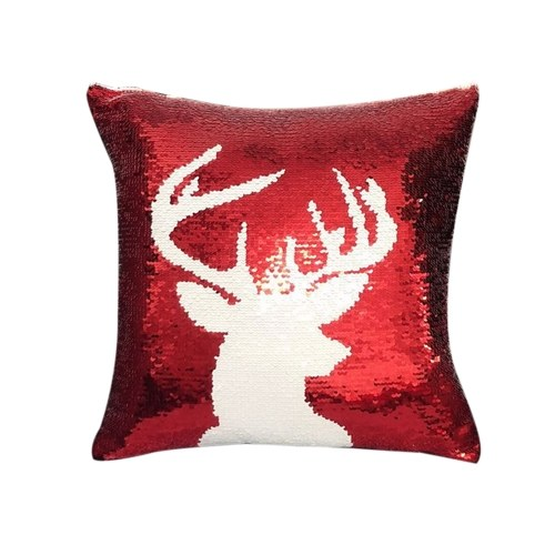Weihnachtsmotive Magic Reversible Pailletten Glitter Kissenbezug