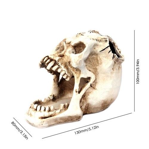 TOMTOP / Office Desktop Storage Box Skull Stationery Organizer