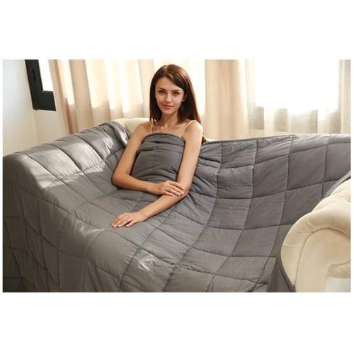 15 фунтов 120 * 180см утяжеленное одеяло тяжело утяжеленное одеяло