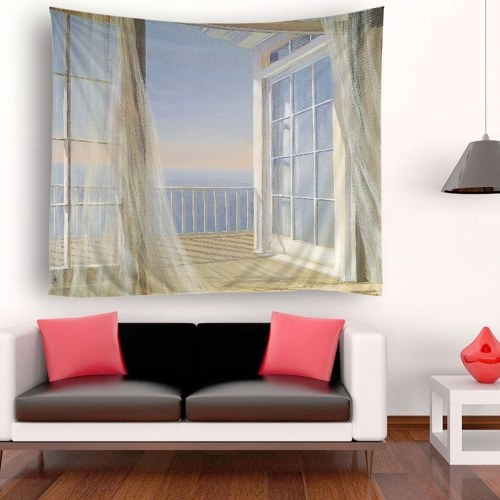 Tapestry Wall Hanging Scenery Tapestries Seaside Sunset Forest Tapestry Wall Decoration