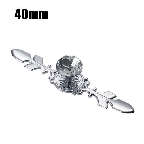 Cabinet Pulls Knob Crystal Glass Ball Handles Diamond Shape