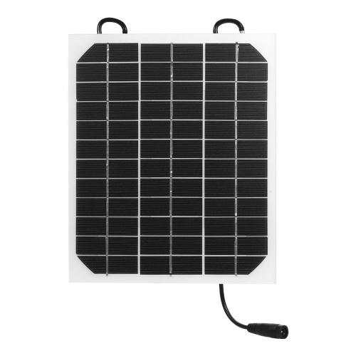 Solarpanel Ladegerät 10W 12V / 5V USB Anschluss