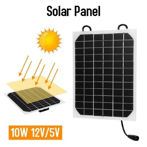 ソーラーパネル充電器10W 12V / 5V USBポート