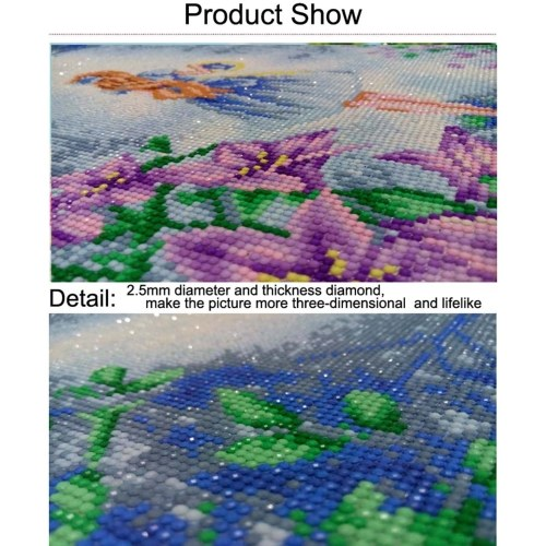 DIY Diamond Painting Sets Different Shape Diamond Drawing Cross Stitch Wall Decorative Color Cat 30x25cm