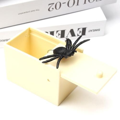 Surprise Prank Toy Animal Spider Box Wooden Box Practice Fun Prank Naughty Toy Gift