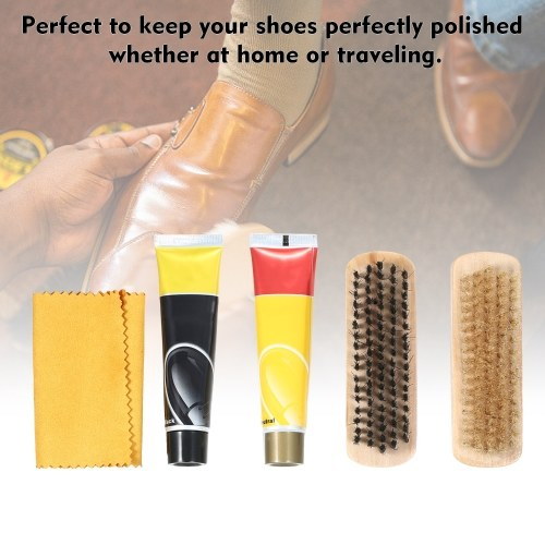 quality purchase cheap new collection 6PCS Shoe Shine Care Kit Black and Neutral Polish Brushes for ...