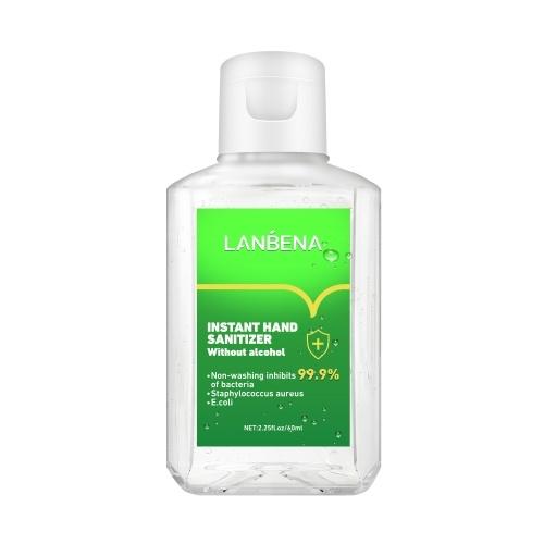 LANBENA 60мл Гель-дезинфицирующее средство для рук Портативный Серебряный Ион Антибактериальный Быстросохнущий Моющее средство для мытья рук фото