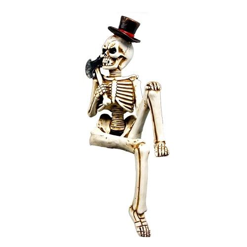 Halloween esqueleto cuerpo cráneo mano vida cuerpo anatomía modelo casa embrujada decoración