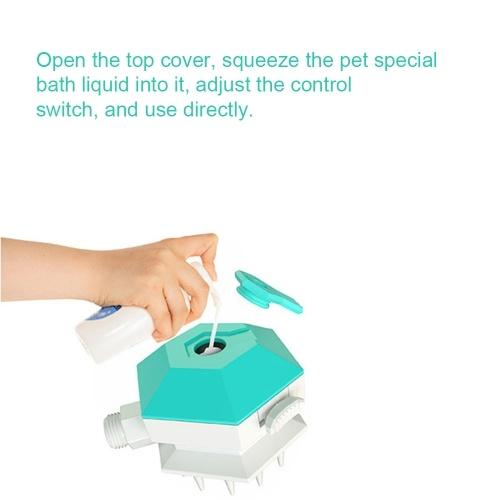 Pet Shower Sprayer with Brush Pet Bathing Tool Pet Shower Sprayer & Scrubber