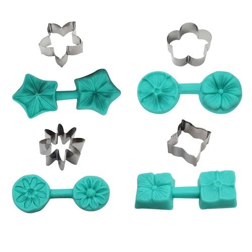 Moldes de silicona de 4 estilos de pétalos de flores
