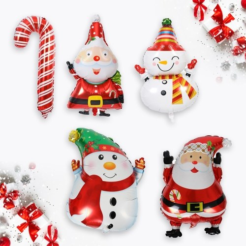 5pcs Christmas Foil Balloons