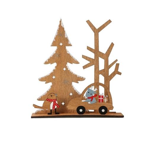Christmas Table Decoration Desk Tree Car Shaped Ornament