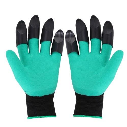 1 par de guantes de jardinería con garra
