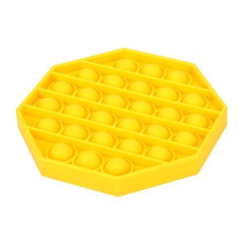 Pop Bubble Fidget Sensory Toy (Octagon,Yellow)