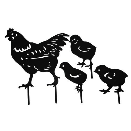 Pieu de poule et poulet