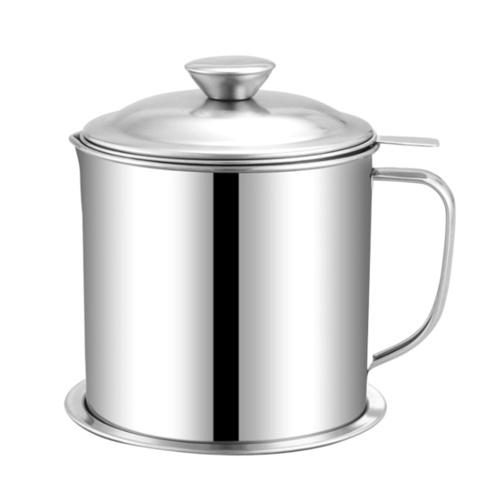 Kitchen Oil Pot (304 & 1.3L & Flat Steel Handle)