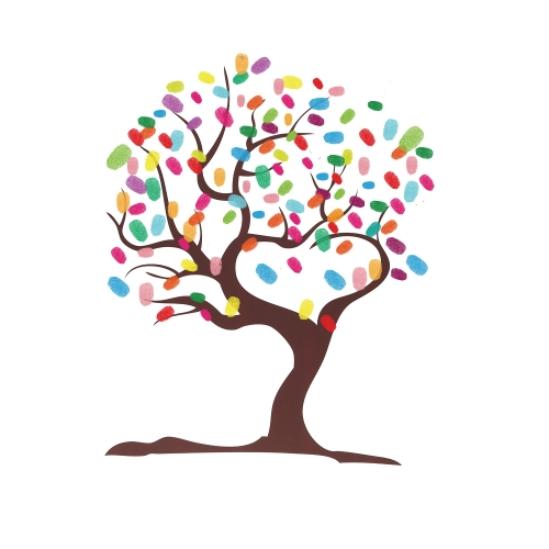 Wedding Fingerprint Tree Signature Guest Book for Wedding Party Graduation Painting Wedding Supplies Love Tree Signature Painting