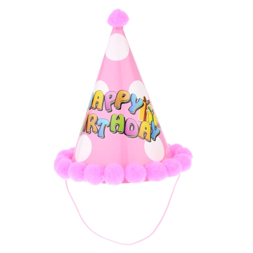 ANSELF Party Celebration Bobbles Cute Hat Birthday Hat Праздничные украшения для детей Pink