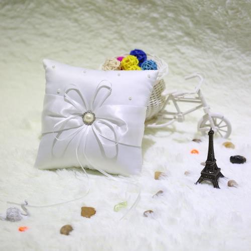 Romantic Soft Satin Wedding Ring Pillow Awesome Good Wedding Supplies