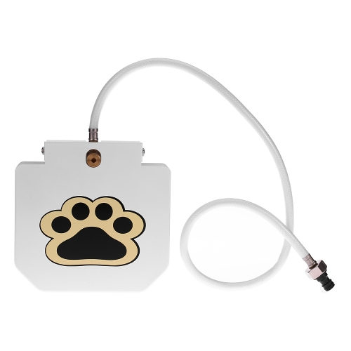 High-quality Stainless Steel Pet Dog Cat Water Fountain Outdoor Step-on Dog Waterer Drinking Fresh Water Fountain Tool with Hose