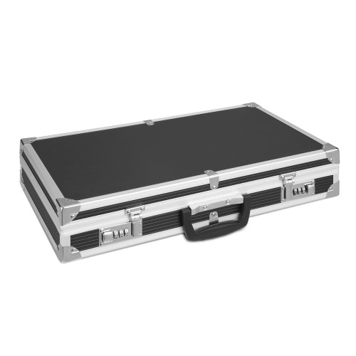 iKayaa Aluminum Framed Hard Locking Pistol Gun Case Handgun Revolver Carry Storage Box With 2 Combination Lock