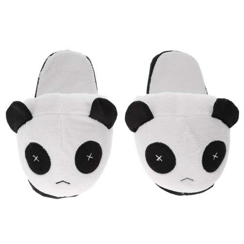 Anself reizender netter Panda-Mann-Winter warme Hausschuhe weiches Plüsch-Anti-Blockier-System Innen Zuhause Cotton Slipper-Schuhe 29cm / 11.4in