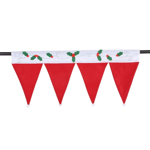 Cute Christmas Window Drape Panel Decorative Xmas Door Window Curtains Pennant Bunting Valance Christmas Decoration Supplies