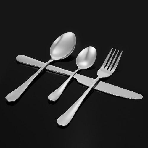 16pcs High-End West Geschirr 4 Set Edelstahl-Besteck gute Qualität Gabelmesserlöffel Dessertlöffel Geschirr