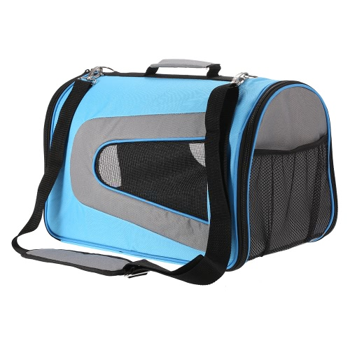 Anself Soft Sided Dog Carrier Pet Travel Tote Portable Bag Home for Cats Small Dogs 18
