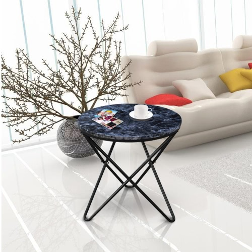 iKayaa Modern Round End Metal Sofa Couch Coffee End Table
