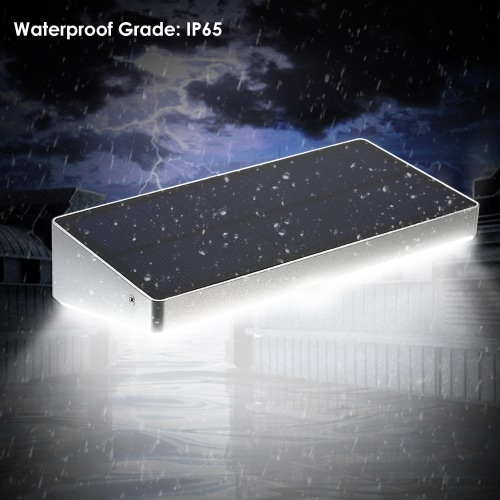 Solar Light 48 LED 760 Lumen PIR Motion Sensor Waterproof with Aluminum Alloy Frame Wall Light for Garden Yard Pathway Fence Outdoor Use