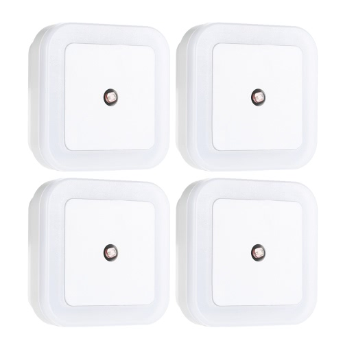 4pcs Square Light Sensor Baby Room Nursery White LED Night Light Wall Nightlight AC110V-220V