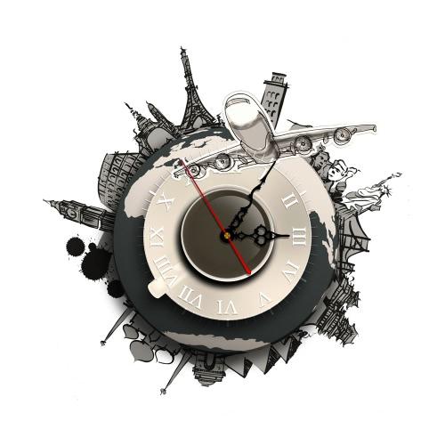 17.7 * 15.7 '' DIY Съемные 3D настенные часы наклейки Кварцевые движения стены Декоративные наклейки Гостиная Спальня Декаль Декор