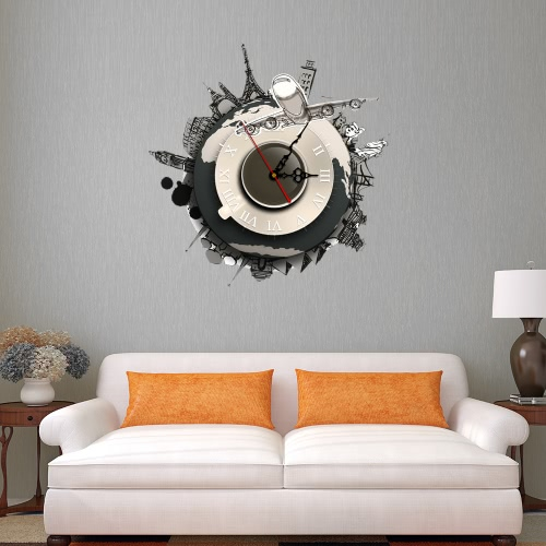15.7 * 15.7'' DIY Removable 3D Wall Clock Sticker Quartz Movement Wall Decortive Stickers Living Room Bedroom Decal Decor
