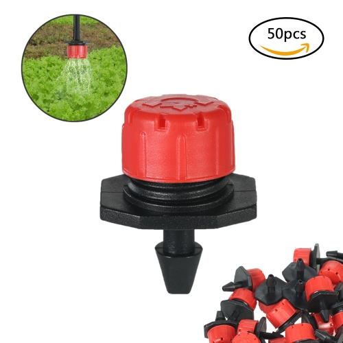50pcs Adjustable Dripper Micro Sprinker Anti-clogging Emitter Dripper System