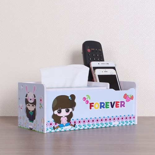 Multifunctional Tissue Box Creative DIY Household Item Pocket-handkerchief Telecontroller Storage Box Container Case