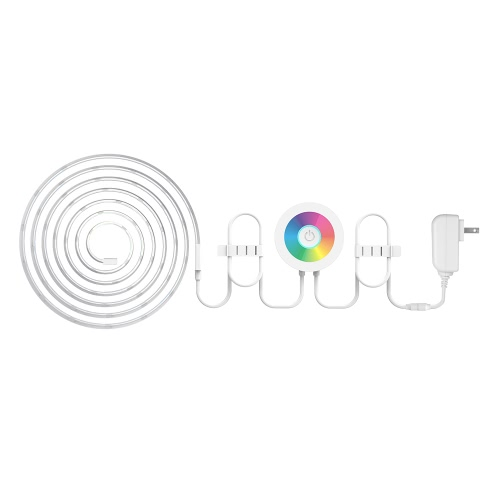 Smart Wi-Fi LED Light Strip Couleur Changing RGB Light Strip pour iOS Android Smartphones Control Multi-Color Chambre Cabinet TV Éclairage 60 LED 6.56ft